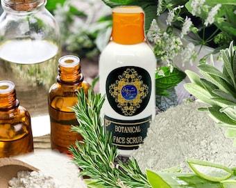 Botanical Face Scrub, Herbal Face Scrub, Face Exfoliant