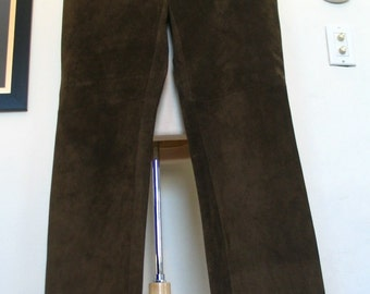 For Joseph Moss Green Suede Straight Leg Pants Size 29