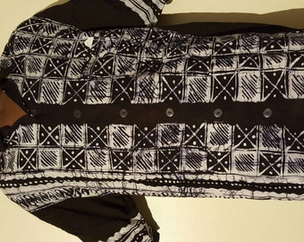 Button down batik shirt. Med6