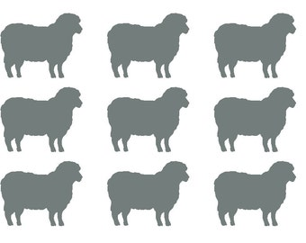 30 Lamb Stickers, Lamb Envelope Seals, Nursery Wall Decal, Lamb Meal Choice Sticker, Lamb Wall Decal, Animal Stickers Decal, Party Sticker