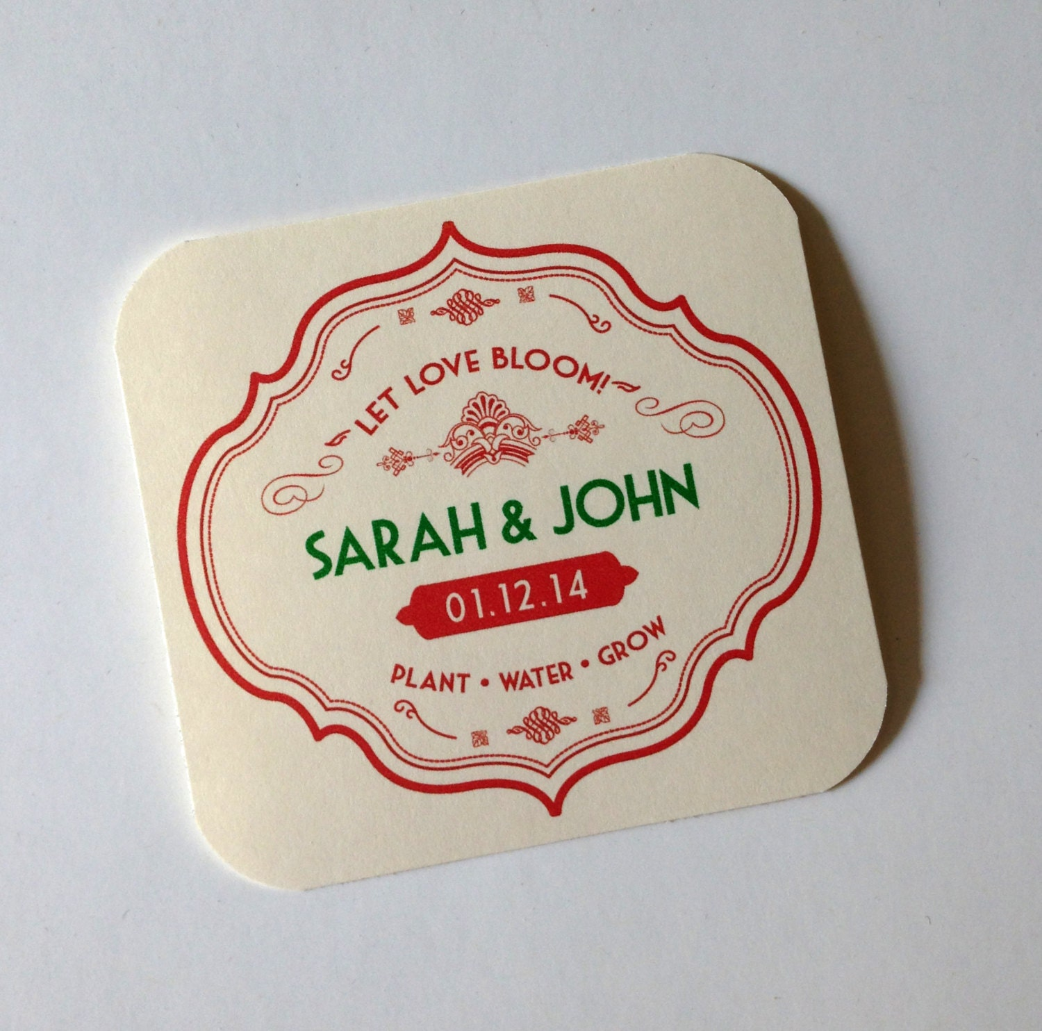 Seed Paper Favors-25 vintage style seed paper personalized