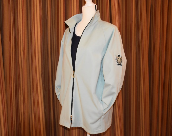 Featured listing image: Vintage St. John Sport by Marie Gray - Made in USA Mint Green Petite Jacket Blazer - Stretch Fabric
