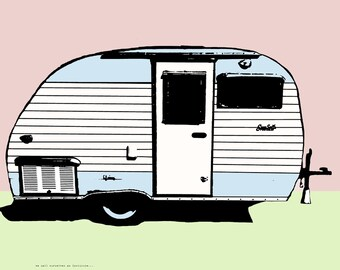 Scotty: Digital Print Camper RV Serro Scotty Sportsman