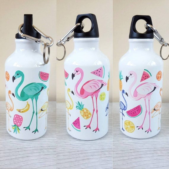 Flamingo personalised water bottle