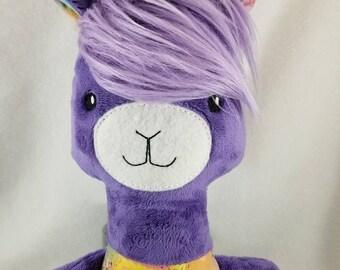 OOAK - Alpaca Plush - Stuffed Alpaca - Stuffed Animal