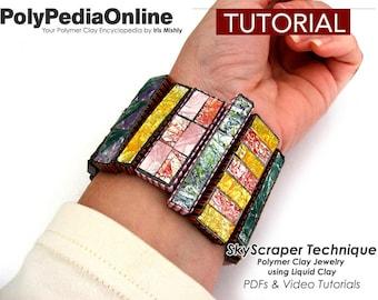 Polymer Clay Tutorial, Polymer Clay Jewelry, Polymer Clay, Polymer Clay Beads, DIY Craft, Handmade Beads, Fimo Jewelry, Bracelet, Necklace
