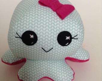 Octopus toy , handmade toy , soft toy , baby toy , toddler toy , softie ,handmade for children , baby shower gift