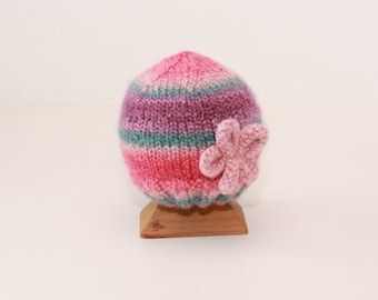 Valentine Pretty Pink & purple Baby Hat for the fashionable 6 to 12 month old