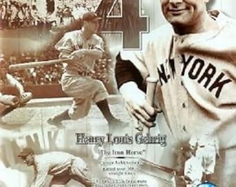 Mlb Lou Gehrig NEW YORK YANKEES 8X10 Action Photo Print Mnt