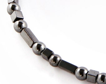 Therapeutic Magnetic Magnetite Necklace For Men and Women with Rectangle, Square and Round Beads