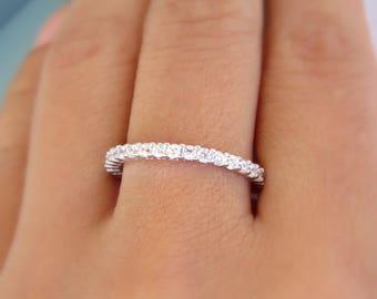 Full Eternity  Band/ Wedding Band / 2mm Eternity Ring /Silver Wedding Band/ Sterling Silver Stacking Ring/ Stackable Ring/ Stacking Ring/