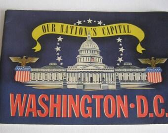Our Nation's Capital 1942 Souvenir Book Washington DC Curt Teich