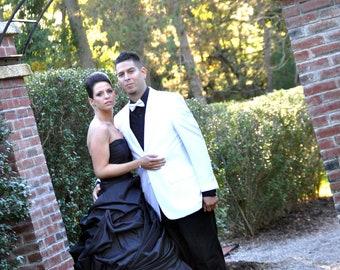 Elegant and Classy Taffeta Black Wedding Dress Strapless Gothic and Unique Bridal Gown by Award Winning Wedding Dress Fantasy