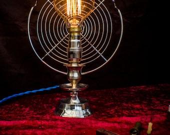 Steampunk Art Deco lamp