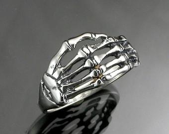 Sterling Silver Skeleton Hand Ring