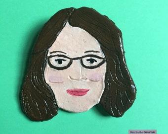 The Liz Brooch (Rad-Ass Women of Comedy Brooch 4)