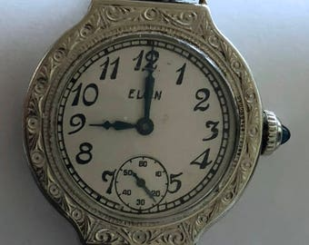 14k white gold filled watch etched vintage