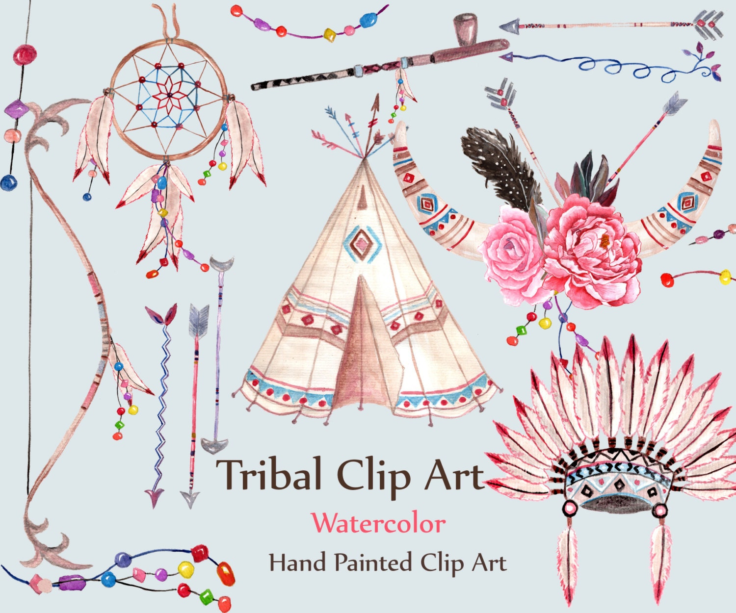 Watercolor tribal clipart tribal clip art dream - Tatouage tribal signification ...