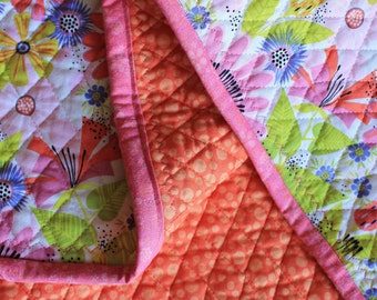 Floral baby quilt