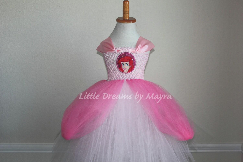 Princess Ariel inspired tutu dress Princess Ariel pink gown