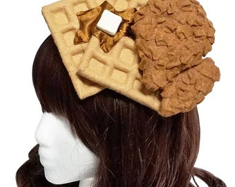 Chicken n' Waffles Fascinator ~ Made to order