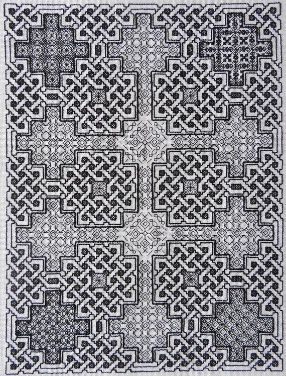 Celtic blackwork pattern modern