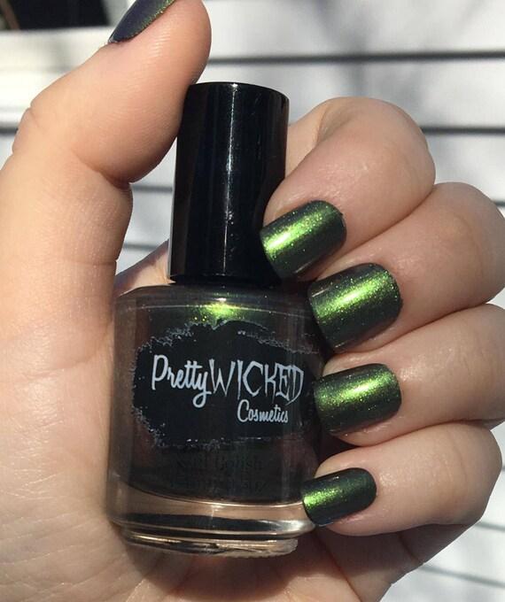 Esmalte verde oscuro, Faye polaco, verde camaleón polaco, verde ...