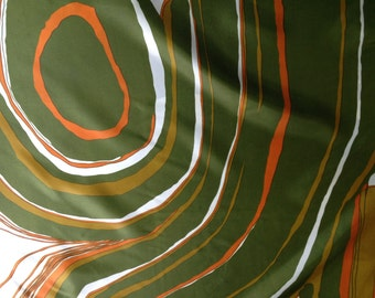 Olive and Orange Scarf