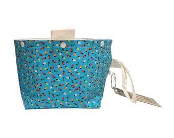 Holiday Lights Project Bag Bucket Bag size medium