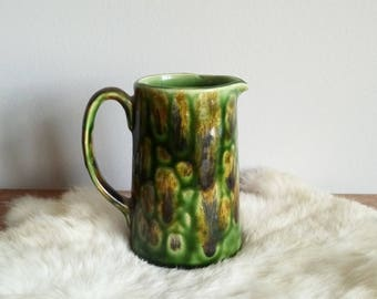 Small Handmade Green Pitcher