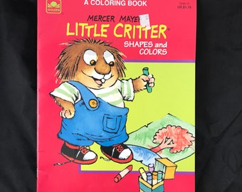 1992 Little Critter, Coloring Book. Shapes and Colors by Mercer Mayer. A Golden Book. Unused/Rare
