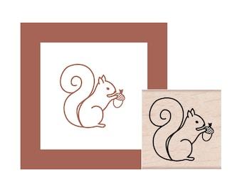 Squirrel Rubber Stamp
