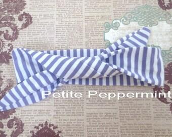 Lavender Striped Baby Headband,Baby Head Wrap,Cotton Baby Turban,Bow Knot Headband,Top Knot Baby Headband,Baby Bow Headband,Baby Turban Wrap