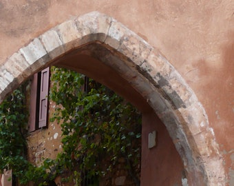 Stone arch and window