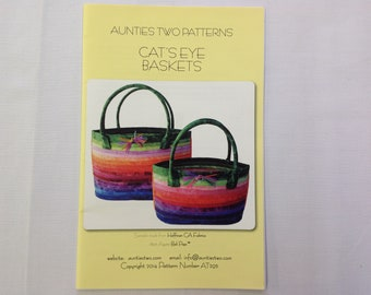Auntie's Two Patterns- Cat's Eye Baskets
