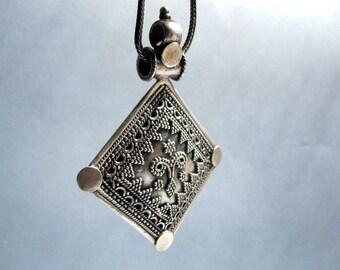Rajastan Tribal Silver Pendant.