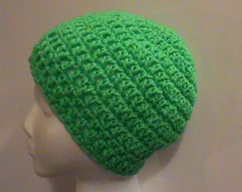 St. Patrick's Day Crochet Hat, Green Crochet Hat, Winter Crochet Hat, Christmas Crochet Hat, Green Hat, FREE SHIPPING, Ready to Ship, #128