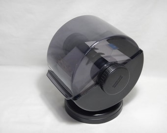 """Rolodex Covered Rotary Swivel File 2 1/4""""x4"""" Cards Black Model NSW-24C Index Business Card Telephone Address"""