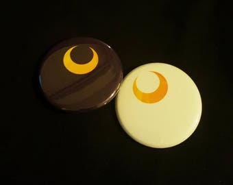 Sailor Moon Luna & Artemis Minimalist Buttons