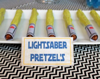 INSTANT DOWNLOAD Light Saber Wraps Space Party