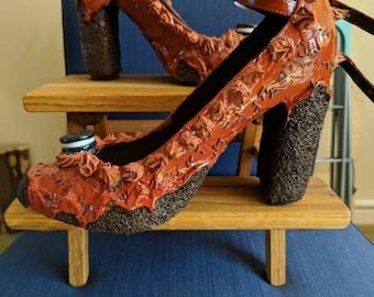 Chocolate Cake Inspired Heels