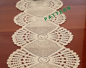 Table Runner Pattern Crochet Table Runner PDF Table Cloth Table Decoration  Center Piece Lace Table Runner Home Decor Crochet Table Runner
