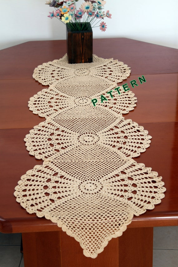Table Runner Pattern Crochet Table Runner Pdf Table Cloth