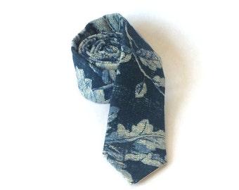 Blue Chicory Woven Men's Necktie