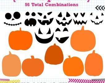 15 Pumpkin SVG DXF Set - 56 Combinations