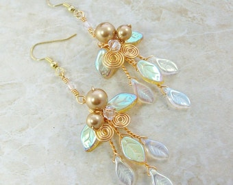 Holiday Gold Fairy Earrings