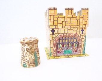 Vintage Thimble Ireland Irish Souvenir Blarney Castle Sylvac Shaw Copestake Original Box