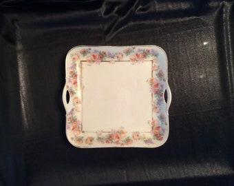 Bavaria square serving platter with handles