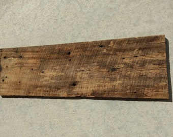 Reclaimed barn wood plank, tobacco barnwood, blank wood sign, reclaimed wood shelf, aged wood, weathered wood plank, pallet wood, fence wood