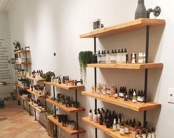 Reclaimed wood shelf, Industrial shelving unit, Shelves, Urban Wood, Wood shelf, Wood shelving, Rustic, Book shelf, Picture shelf, 4